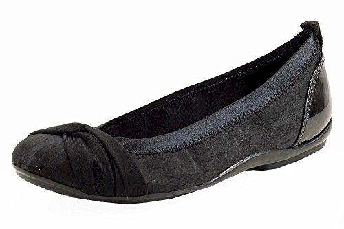 Donna Karan DKNY Women's Stunning Logo Black Fashion Ballet Flats Shoes