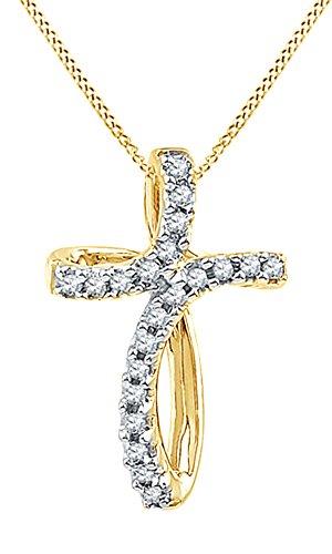 Yellow Gold Diamond Loop - 8