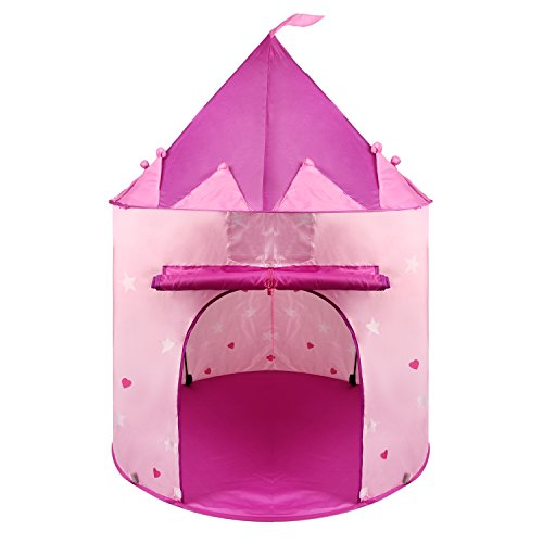Princess Castle Play Tent for Kids, Pink, Indoor & Outdoor