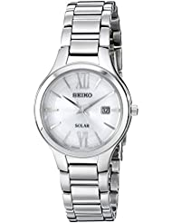 Seiko Womens SUT207 Analog Display Analog Quartz Silver Watch