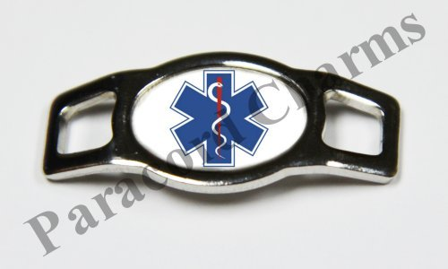 EMT Star of Life Rescue - Design #111 - Stainless Steel 550 Paracord Shoelace Charm - ()