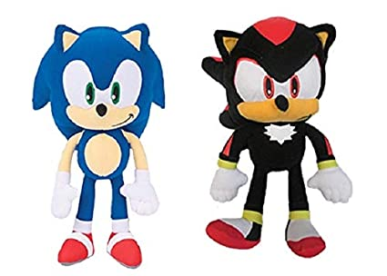 Sonic The Hedgehog Sonic and Shadow Plush Set Toy - 12