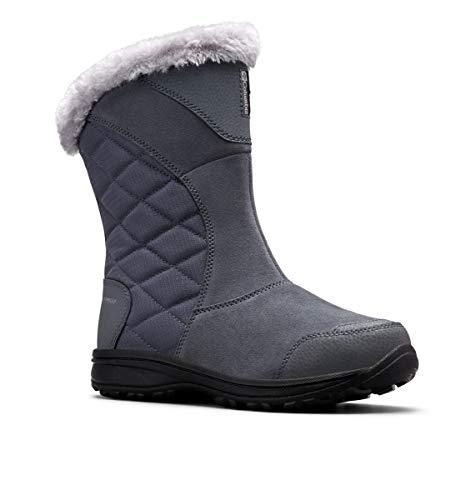 Columbia Women's ICE Maiden II Slip Snow Boot, Graphite, Grey, 9.5 Regular US