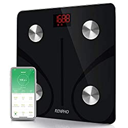 RENPHO brand is devoted and dedicated to the design, development and sales of digital scale.Specifications:Capacity: 396lb/180kg Division: 0.2lb/50gUnits: kg/lb(switch units through App)Features: Auto on/offMaterial: 5mm Tempered Glass PlatformDispal...
