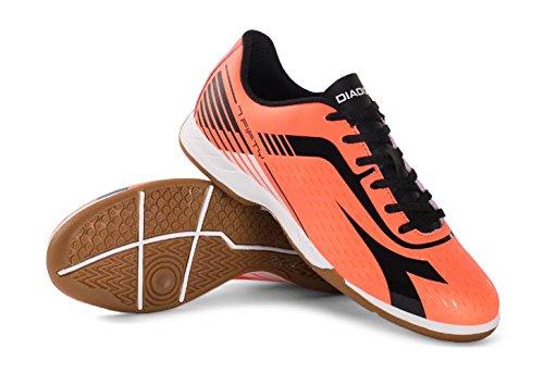 Diadora 7fifty Id Zapatos De Fútbol Para Interiores Para Hombre Rojo Fluo / Negro
