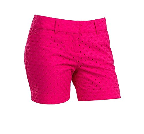 The Limited Womens Tailored Short, Hot Pink Eyelet -