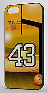 Basketball Sports Fan Player Number 43 Black Plastic Decorative iPhone 5/5s Case