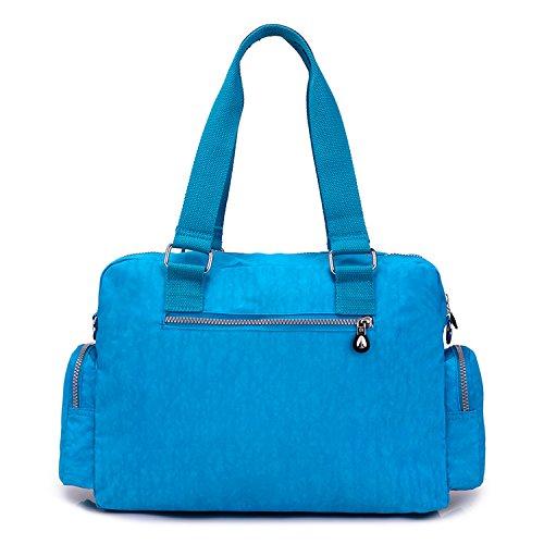 Donna Borsello Ragazze Sport Borse Sacchetto Leggero Blu Tracolla Bag Viaggio Impermeabile da 3 Borsa Foino Borse Borsetta a per Scuola Spalla wUIqdU