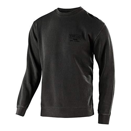 Lee Classic Sweatshirt - Troy Lee Designs Men's Classic Shocker Crew Pullover Hoodie (Medium, Pigment Black)