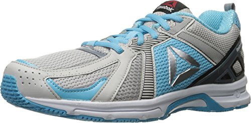 Free Reebok Women's Runner Walking Shoe, White/Skull Grey/Asteroid Dust/Crisp Blue/Silver, 8.5 M US