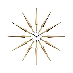 Infinity Instruments Celeste Unique Cool Mid Century Modern Design Wall Clock 24 inch