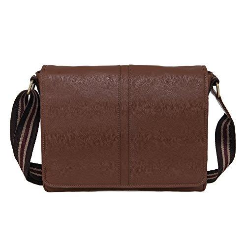 Brown Artificial Shade (Klasse Vintage Cross Body Shoulder Leather Bag for Men)
