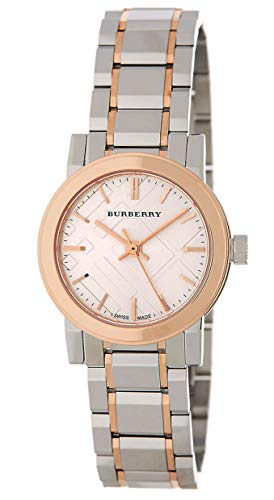 Swiss Rose Gold 2 Tone Silver Dial 26mm Women Stainless Steel Wrist Watch The City BU9205
