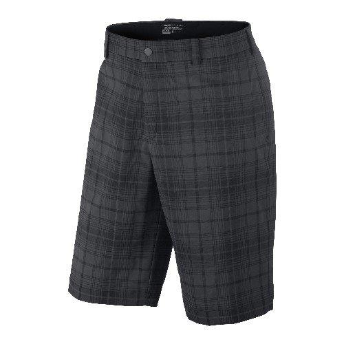 Nike Golf Mens Plaid Shorts - Black/Night Stadium 30