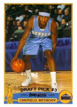 2003 / 04 Topps Basketball #223 Carmelo Anthony Rookie Card