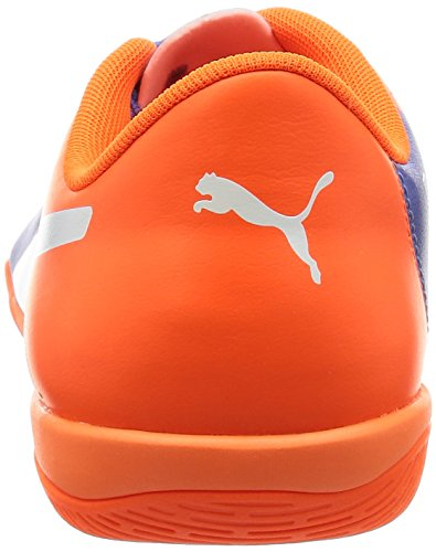 Puma Evopower 4.3 It, Botas de Fútbol Unisex Adulto Multicolor - Mehrfarbig (Blue Yonder-puma White-SHOCKING Orange 03)