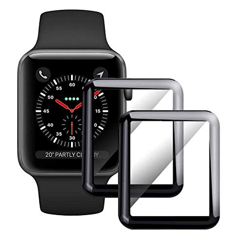 [2 - Pack] Apple Watch Screen Protector 40mm,Tempered Glass Full Coverage Scratch Resistant Waterproof Tempered Glass Film for Apple iWatch 40mm Series 4