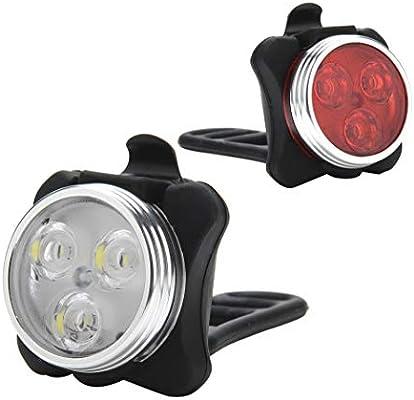 USB Rechargeable Bike Light Set,650mah Lithium Battery,4 Light Mode Options,