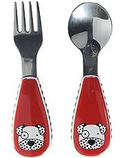 Skip Hop Toddler Utensils, Fork and Spoon Set