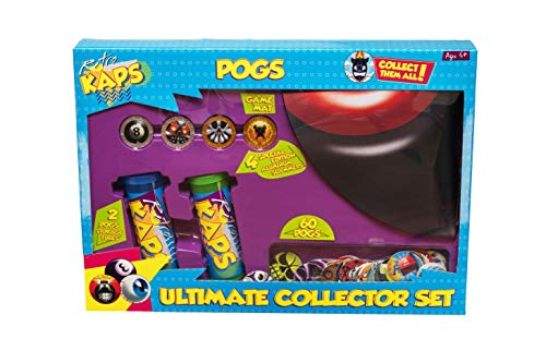 Collector Tube - Pog Retro Kaps Ultimate Collector Set Game Includes: 60 Pogs , 4 Exclusive Slammers , 2 Storage Tubes & 1 Deluxe Game Mat