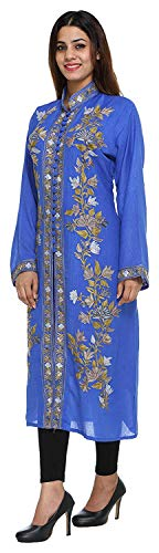 The MadhuSudan Gallery Kashmiri Women's Coat Jacket Crewel Hand Embroidered Chinar Work by The MadhuSudan Gallery (Image #1)