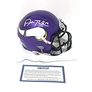 Adam Thielen Minnesota Vikings Signed Autograph Speed Mini Helmet Steiner Sports Certified