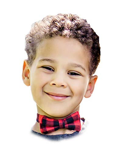 Lumberjack Red and Black Plaid Classy Boy Bow Tie Closure Winter Buffalo Toddler Baby Size