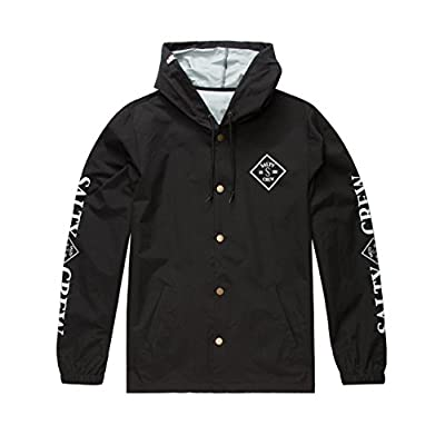 Discount Salty Crew Tippet Snap S/S Jacket, Blk-Black, XL for sale