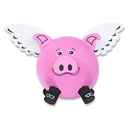 Tenna Tops - For Fat Thick Antenna Style: Flying Pig Car Antenna  Topper/Antenna Ball/Rear View Mirror Dangler Hanger (Auto Accessory)