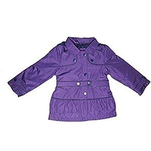London Fog Girls Hooded Fleece Lined Peacoat Rain Jacket (6, Purple)