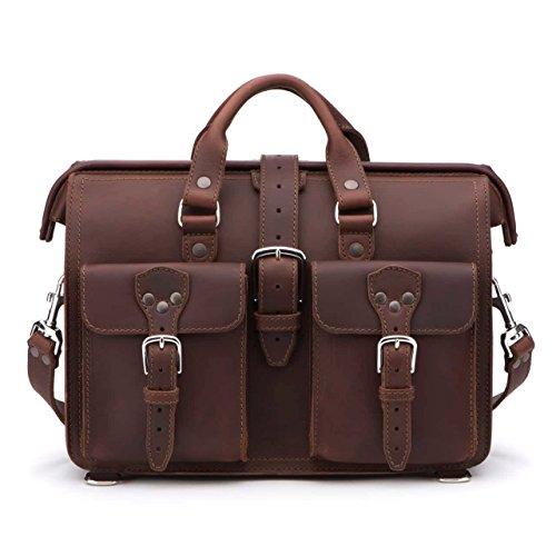 Saddleback Leather Co. Flight Bag 15-inch Full Grain Leather Expandable Laptop Briefcase for Men Includes 100 Year Warranty by Saddleback Leather Co. (Image #1)