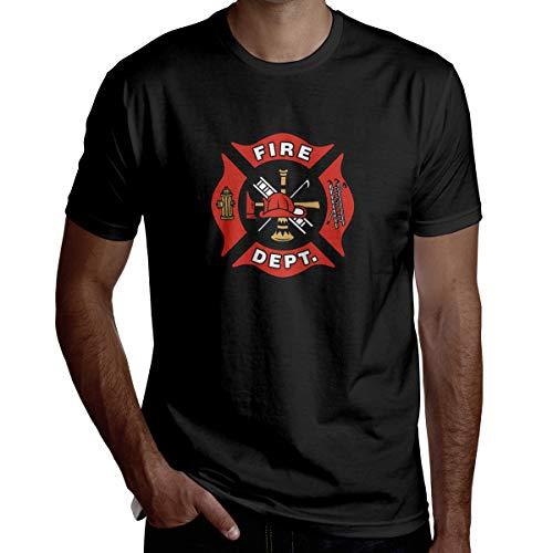 EMT Firefighter Maltese Cross Boy Handsome Short-Sleeved T-Shirt Fashion T-Shirt Vest Black