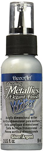 DecoArt Dazzling Metallics Writers Paint, 2-Ounce, Silver