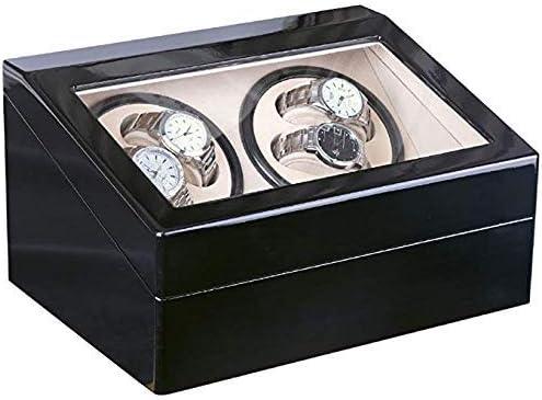 GOHHK Mira Winder para Relojes AutomáTicos 4 Caja PresentacióN, Reloj Winder 4 Relojes Caja Horas Negro Relojes Estuches Relojes Cajas Winders Estuche: Amazon.es: Hogar