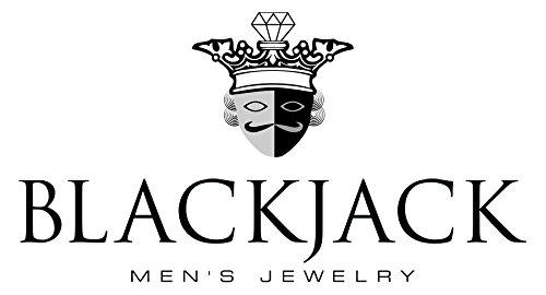 Blackjack Jewelry Mens Genuine Gemstone Stainless Steel Adjustable Bead Bracelet American Jewelry Mfg ABJS16B
