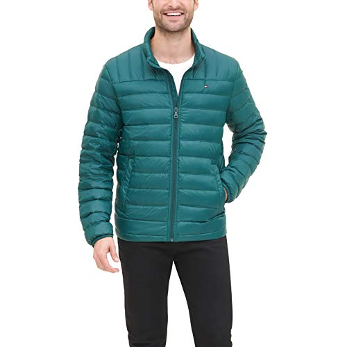 Tommy Hilfiger Men's Packable Down Jacket (Regular and Big & Tall Sizes), Botanical Green, Large