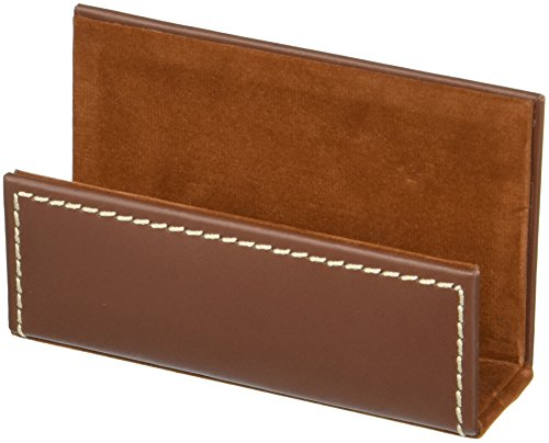 Dacasso Leather Business Card Holder, Rustic Brown (A3207)