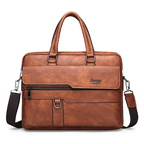 JEEP BULUO Business Briefcase Leather