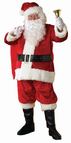 Amazon.com: Rubies Regency Deluxe Plush Santa Suit, Red/White, Standard: Clothing