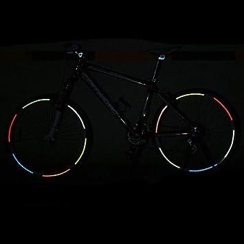 Auntwhale 1 PC Adesivo riflettente per cerchione/pneumatico per bicicletta Per biciclette, motocicli, automobili e altri requisiti di sicurezza