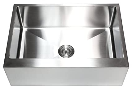 33 Inch Stainless Steel Single Bowl Flat Front Farmhouse Apron ...