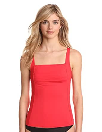Calvin Klein Women's Pleat Tankini at Amazon Women's
