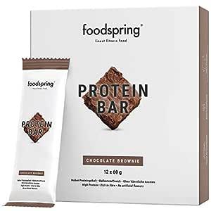 foodspring Barritas de Proteína, Brownie, 12 x 60g, 33% de ...