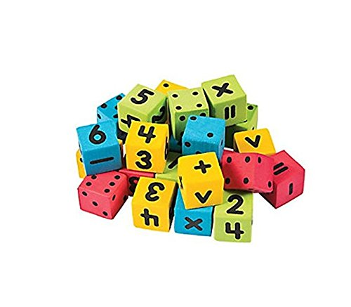 Math Dice, Number and Operations Dice, Mini Foam Dice, 144 total