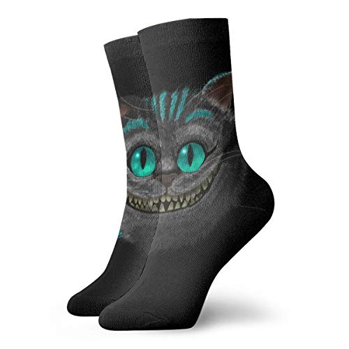 Funny Colourful Cheshire-Cat Crew Socks Outdoor Socks For Unisex