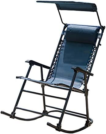 Sundale Outdoor Folding Rocking Lounge Patio Garden Pool Chair