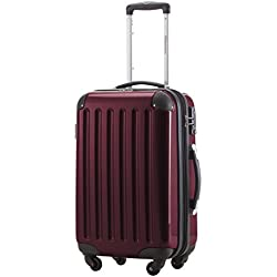 HAUPTSTADTKOFFER - Alex - Carry on luggage Suitcase Hardside Spinner Trolley Expandable 20¡° TSA Burgundy