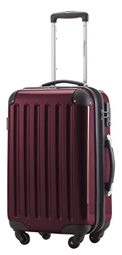 HAUPTSTADTKOFFER - Alex - Carry on luggage Suitcase Hardside Spinner Trolley Expandable 20¡° TSA - Carry Luggage Burgundy On