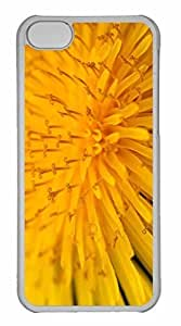 iPhone 5C Case, Personalized Custom Yellow Flower 14 for iPhone 5C PC Clear Case