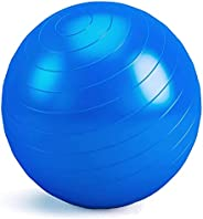 Exercise Ball, Yoga Balance Ball with Air Pump, 55-75cm Anti-Slip Fitness Ball Supports 600lbs, Great for Pila